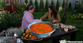 Лариса Гузеева научила хозяйку изПодмосковья готовить «Нарядный томатный суп»