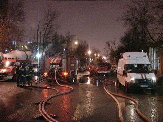 На северо-востоке Москвы потушен крупный пожар в промзоне «Автодормехбазы»