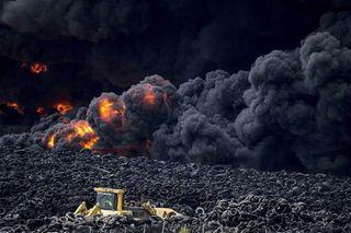 Фото: Утилизация шин становится экологической катастрофой, pikabu.ru