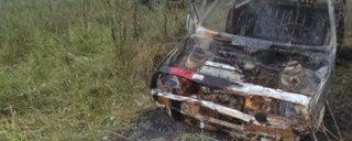 В Алексинском районе сгорел автомобиль