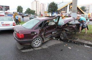 В Гомеле попали в ДТП BMW и Audi