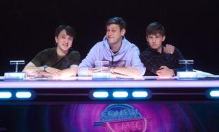 Звёздное жюри 11 сезона: Денис Дорохов, Антон Шастун иАлексей Щербаков. Источник: rabotnikitv.com