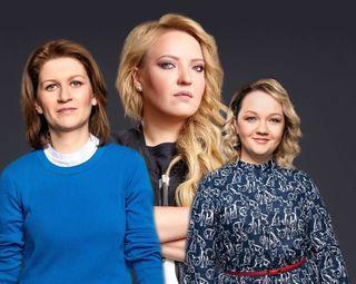 Фото: Саша Муратова, Ирина Мягкова и Варвара Щербакова. Источник: Pokatim.ru