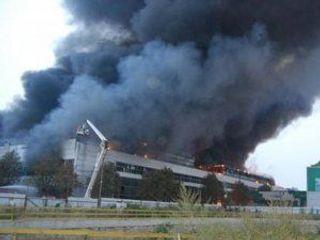 Пожар на складе бытовой химии в Брянске – никто не пострадал