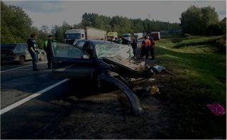 Под Ярославлем столкнулись два «Форда»: есть пострадавшие