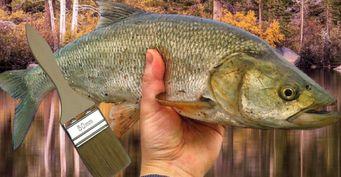 Самоделки рыбака: Как сделать воблер изкисти для краски