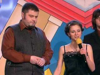 Фото: Денис Привалов иНаталья Еприкян вкоманде КВН «Мегаполис», «Первый канал».