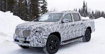 Шпионы рассекретили внешность пикапа Mercedes-Benz X-Class