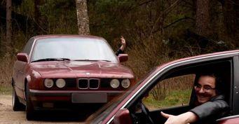 Проржавевший раритет BMW E34 Мэддисона реанимировали до финальной покраски за 10 тыс. рублей