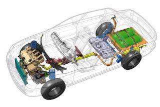 Внешне LADA Priora CNG ничем неотличается отобычной четырёхдверки. Авот схема расположения агрегатов. Фото: «АвтоВАЗ»