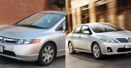Honda Civic VIII vs Toyota Corolla X: Эксперты назвали особенности седанов с пробегом