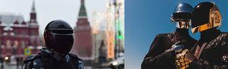 Фото: Слева боец росгвардии, справа группа Daft Punk, pokatim.ru