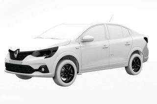 Патентное изображение Renault Logan нового поколения. Источник: Cardekho
