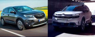 Фото: Opel Grandland X и Citroen C5 Aircross, источник: Opel, Citroen