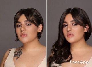 Пример, как могла выглядеть Диана сдлинными волосами