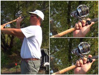 Как нажатием пальца проверить запутывание шнура при забросе. Источник изображения: YouTube-канал Salapin.ru Рыбалка— образ жизни