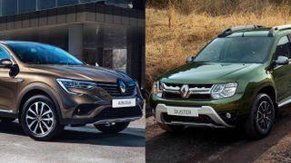 Фото: Слева— Renault Arkana, справа— Renault Duster, источник: Renault