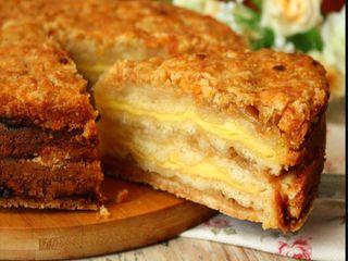 Насыпной яблочный пирог/Источник: mircooking.ru