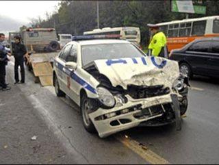 ДТП в Иванове: машина ГИБДД столкнулась с Hyundai Getz