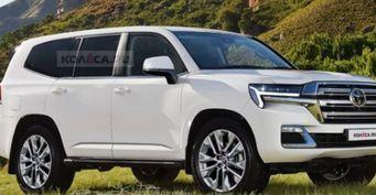 Чувство, что VWвыкупил «японцев»: Свежие рендеры Toyota Land Cruiser 300 «перетёрли» водители