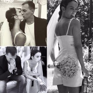 Фотоколлаж: Кадры со свадьбы звезды «Кармелиты»,  Instagram @yuliaziminaa