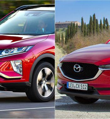 Опции против комфорта: Новую Mazda CX-5 иMitsubishi Eclipse Cross сравнил блогер