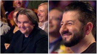 Эрнст, Галустян и Масляков-младший «выдавливали» из себя улыбки во время выступления команды «Газпром нефти». Коллаж автора «Покатим»