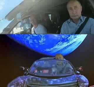 Путин вкосмосе, источник: «ВКонтакте»