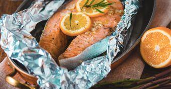 Рыба-мечта: Запечённая сёмга в горшочке из фольги со сливочным соусом