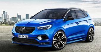 Тизер «заряженного» кроссовера Opel Grandland X OPC появился в сети