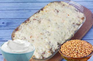 Готовая сметанно-гречневая запеканка из духовки\Источник: 1000.menu