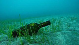 Бутылка с 200-летним джином,  была найдена на дне Балтийского моря