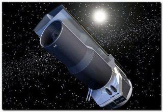 Телескоп «Спитцер» вокруг молодой звезды заснял извержение пыли