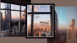 Коллаж из фото с профиля отеля в соцсетях