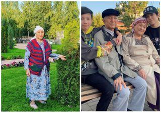 Бабушка Димаша/Димаш с семьей. Источник фото: Instagram @kudaibergenov.dimash