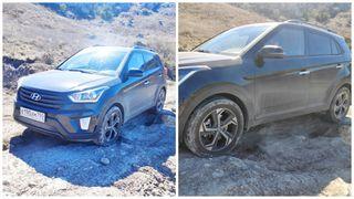 Фото: Hyundai Creta 4WD на ухабистой местности, источник: Drive2.ru