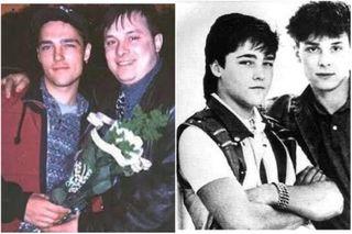 «Белые розы» разлучили бывших друзей. Юра Шатунов иАндрей Разин вмолодости ипоздней. Фото: yandex.net, vokrug.tv