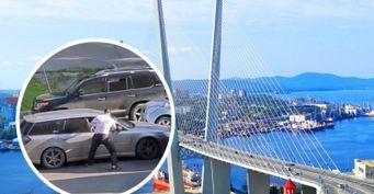 Агрессоры на дорогах Владивостока: Хам на Prado избил водителя Subaru