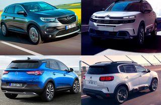 Фото: кузов Opel Grandland X и Citroen C5 Aircross, источник: Opel, Citroen