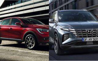 Фото: Renault Arkana и Hyundai Tucson, источник: Renault и Hyundai