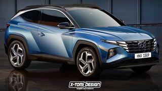 Трёхдверный Hyundai Tucson IV. Рендер: X-Tomi Design
