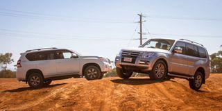 Toyota Land Cruiser Prado и Mitsubishi Pajero. Фото: AutoExpress