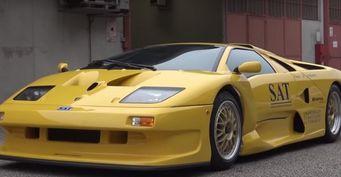 Представлен один из уникальных Lamborghini Diablo GT1 Stradale