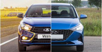«Насколько дороже, настолько илучше»: Hyundai Solaris иLADA Vesta сравнили вСети