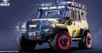 Cyberpunk 2077 по-русски: Лютый УАЗ «Хантер» показали нарендерах