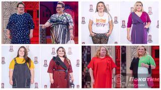 Первые четыре участницы «Большого модного приговора» доипосле преображения. Фото автора «Покатим»