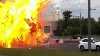 В ДТП на северо-востоке Москвы взорвался Ferrari