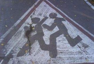 В Московской области на пешеходном переходе байкер сбил двух детей