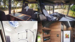 «Внутренности» автодома набазе ПАЗ-3206, источник фото: канал «Автоуслуги»