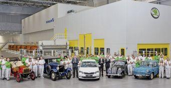 Компания Skoda выпустила 19-миллионный автомобиль